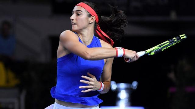 Caroline Garcia fehlt den Französinnen gegen die Schweiz.