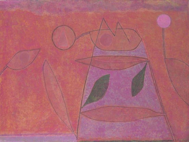 Ein abstraktes Bild in Rot.
