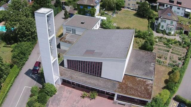 Luftaufnahme der Kirche
