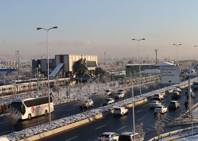 Zugunglück in Ankara.