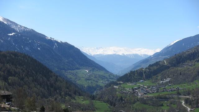 Landschaftsbild aus dem Goms.