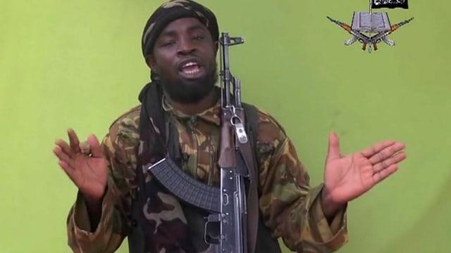 Boko-Haram-Anführer Abubakar Shekau in einer Videomessage