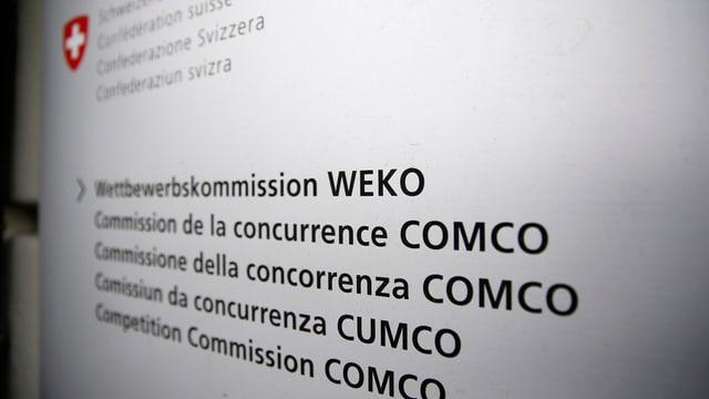 logo/scartira da la Cummissiun da concurrenza/Wettbewerbskommission