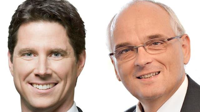 Lars Guggisberg (l.) und Pierre Alain Schnegg im Portrait.