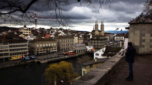 Blick über die Stadt Zürich.