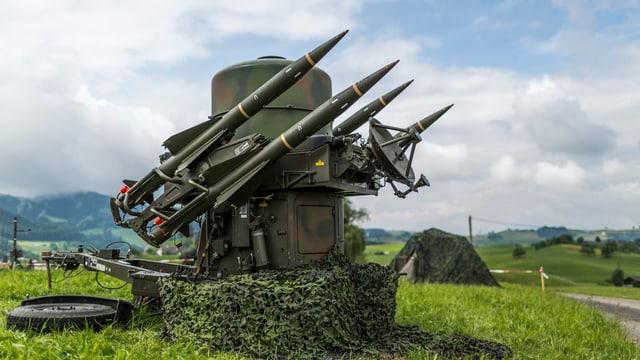 Fliegerabwehrkanone der Schweizer Armee.
