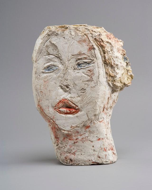 Alberto Giacometti: Tête de femme (Flora Mayo), 1926, Gips bemalt, 31,2 x 23,2 x 8,4 cm, Fondation Alberto et Annette Giacometti, Paris.