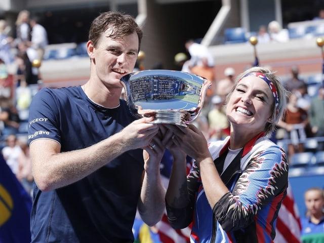 Bethanie Mattek-Sands und Jamie Murray haben ihren Titel im Mixed bei den US Open erfolgreich verteidigt