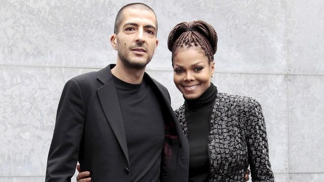 Wissam Al Mana und Janet Jackson.