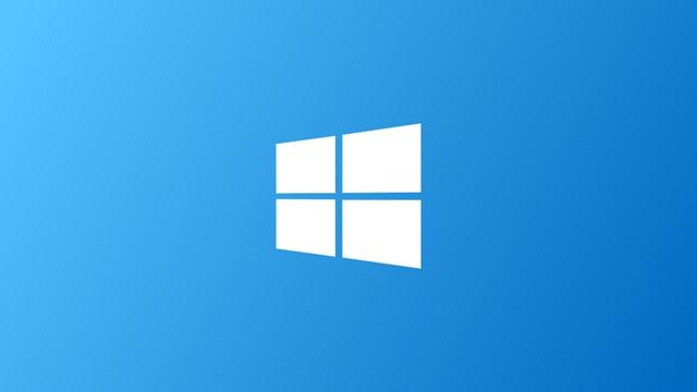 Das neue Microsoft Logo auf blauem Grund