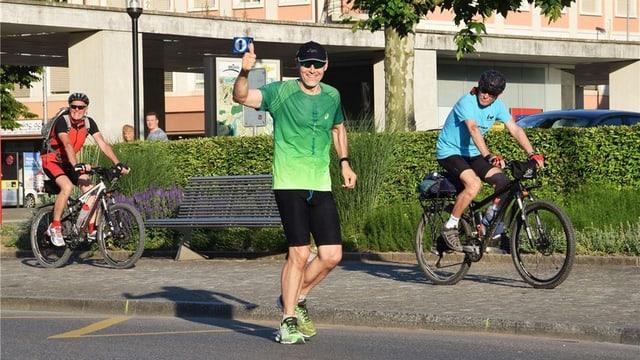 Läufer Simon Schmid in Brugg