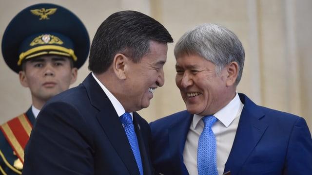 Scheenbekow mit Atambajew, 2017 in Bischkek
