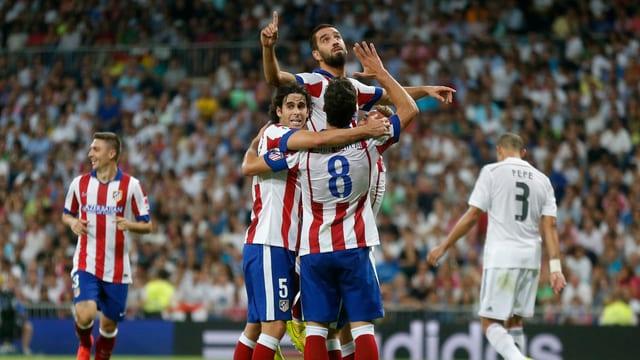 Jubel bei Atletico Madrid nach dem Sieg gegen Erzrivale Real Madrid.