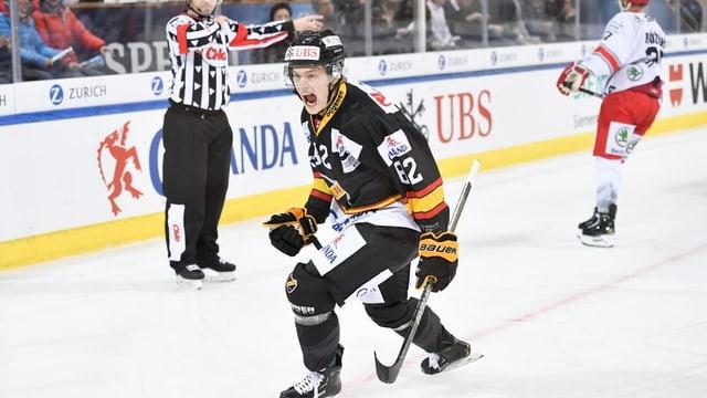 Alexander Ruuttu, ch'ha sajettà il 1:0 per KalPa Kuopio.
