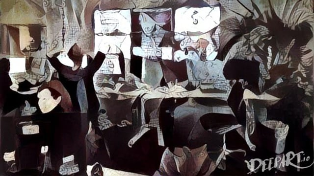 Ein Foto der Redaktion im Guernica-Stil.
