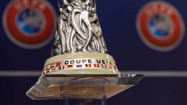 Die Europa-League-Trophäe.