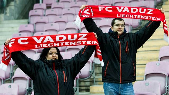 Zwei Fans mit FC