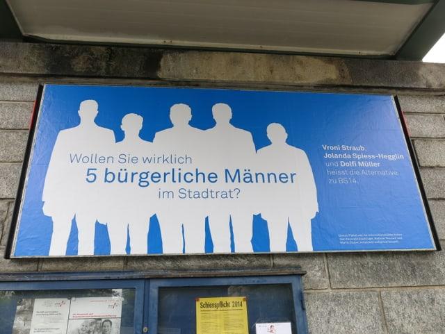 Das Plakat gegen einen bürgerlichen Stadtrat in Zug.