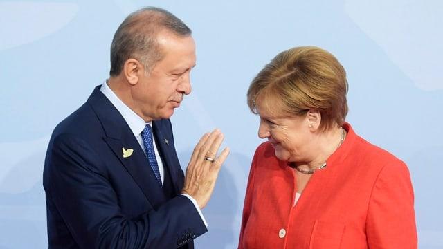 Erdogan e Merkel.