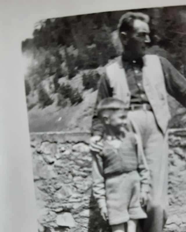 Fridly Wyss mit seinem Vater