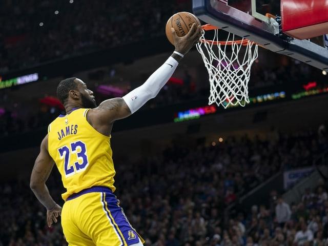 LeBron James im Spiel gegen Philadelphia.