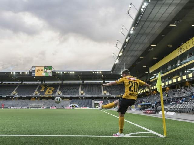 Leere Zuschauerränge in der Super League.