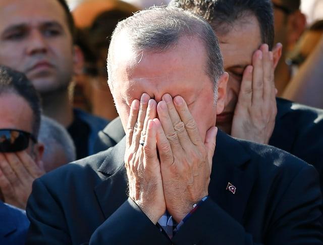 Erdogan am 17. Juli in Istanbul