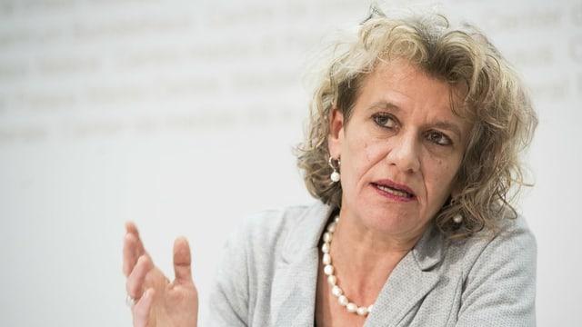 La presidenta dal VPOD, Katharina Prelicz-Huber.