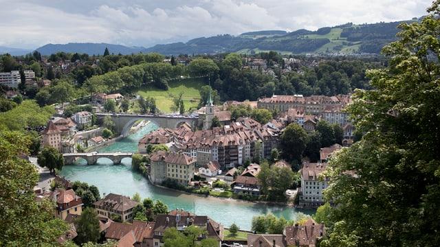 Sicht auf die Berner Altstadt,