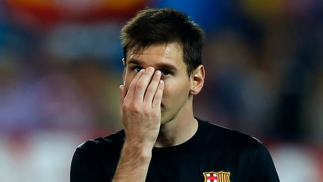 Ein enttäuschter Lionel Messi nach dem Out im Champions-League-Viertelfinal.