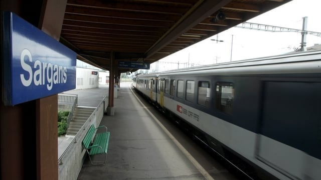 Zug am Bahnhof St. Gallen.