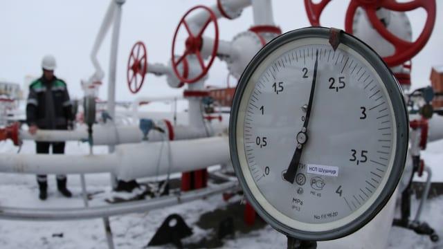 Eine russische Gasförderungsanlage in Ufa im Nordwesten des Landes