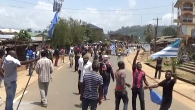Demonstration in Bamenda.