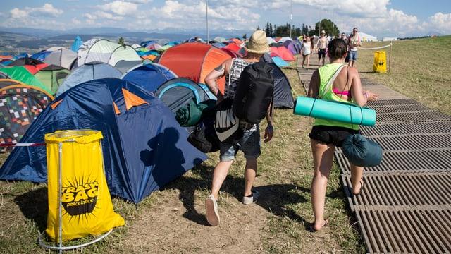 Das Zeltlager am Gurtenfestival.