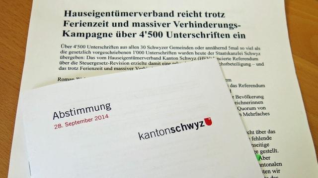 Abstimmungsbroschüre des Kantons Schwyz