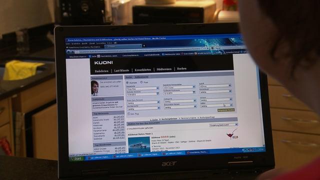 Internetseite der Firma Kuoni