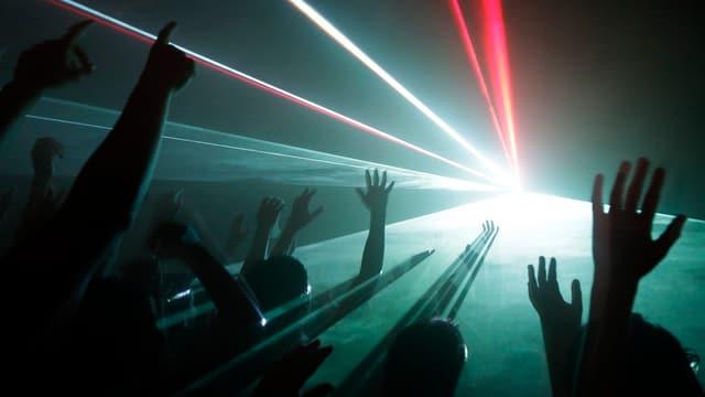 Party mit Laserlicht