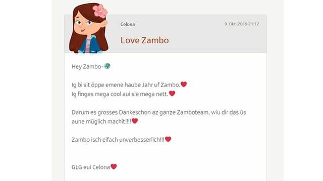 Blog von Celona über Zambo