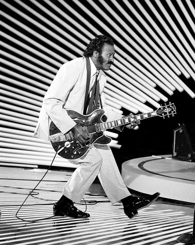 Ein Foto von Chuck Berry, von 1980.
