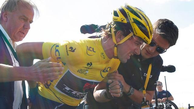 ciclist Fabian Cancellara e dus gidanters