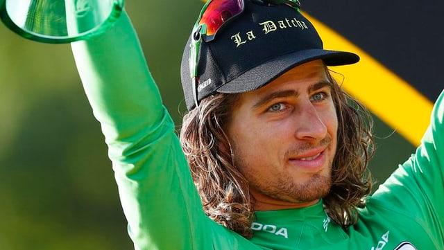 Il velocipedist Peter Sagan che va en il futur per l'equipa tudestga Bora-Hansgrohe.