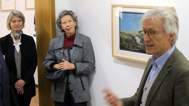 Museumsdirektorin Katharina Epprecht, Kunstsammlerin Heidi Brendle-Neher und Kurator Matthias Fischer