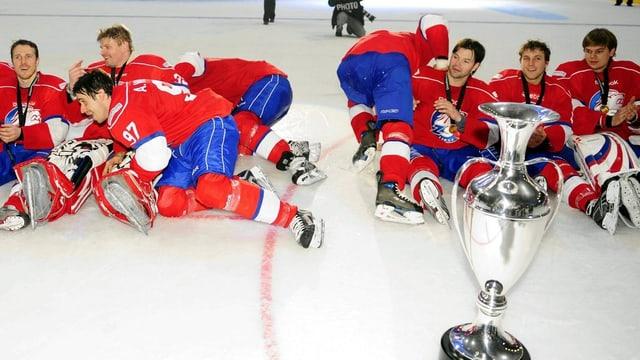 Die ZSC Lions gewannen 2009 als letztes Team die Champions League im Eishockey.