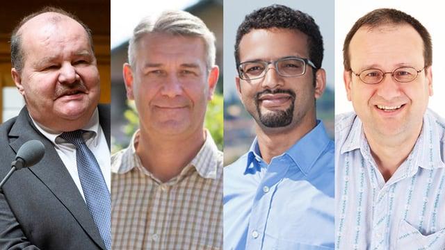 Die vier Kandidaten im Portrait