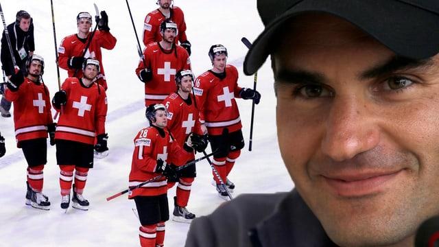 Roger Federer war in Gedanken voll bei der Eishockey-Nati.