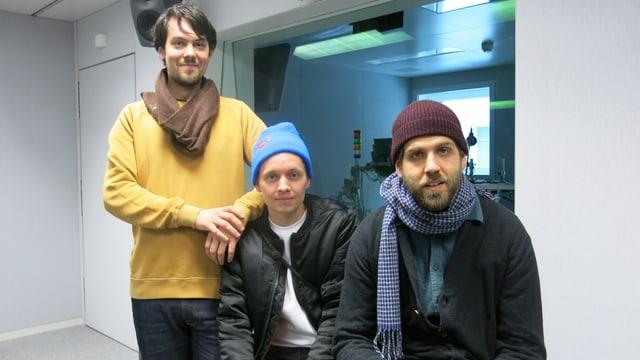 Demian Jakob, Philippe Gertsch und Michael Egger