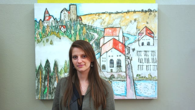 Monica Tavasci da Chiavenna ch'ha ragischs famigliaras a Bivio, ha restaurà las picturas da Alois Carigiet.