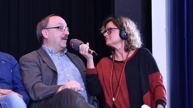 Giusep Giuanin Decurtins durant l'intervista dad RSI