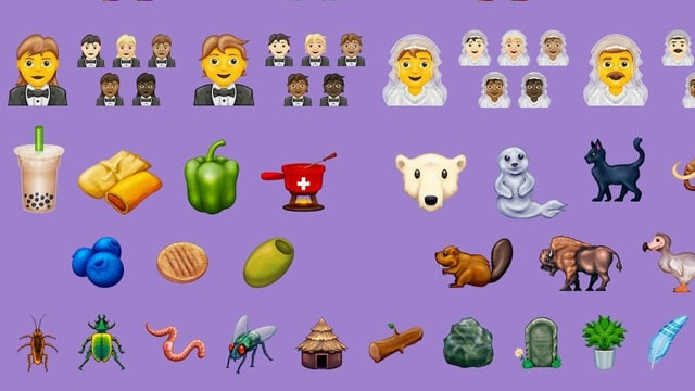 Neue Emojis mit Fondue.