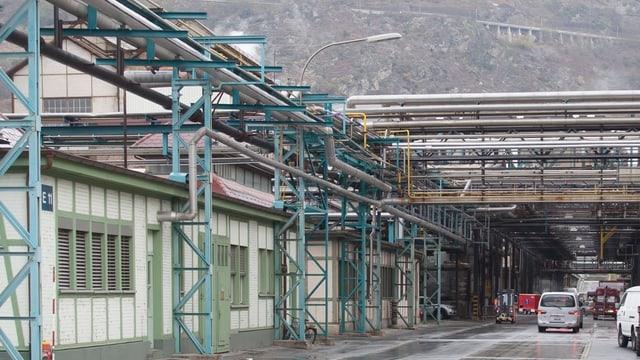 Anlagen des Lonza-Werkes in Visp.